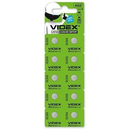 Батарейка годинникова Videx AG 2/LR726 BLISTER CARD 10 шт