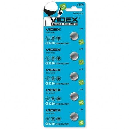 Батарейка літієва Videx CR1220 5шт BLISTER CARD