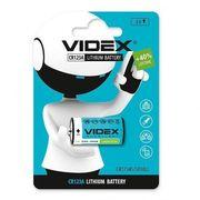 Батарейка літієва Videx CR123A 1шт BLISTER CARD