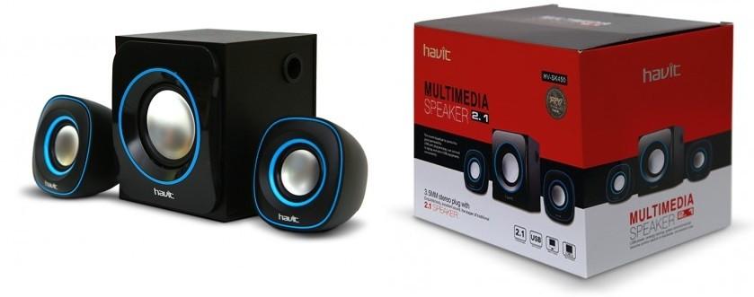 Акустическая система HAVIT HV-SK450 USB, black+blue (24шт/ящ)