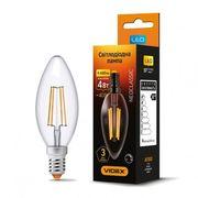 LED лампа VIDEX Filament C37FD 4W E14 4100K дімерна