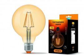 LED лампа VIDEX Filament G95FAD 7W E27 2200K дімерна бронза