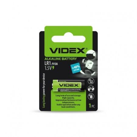 Батарейка лужна Videx LR1 1шт BLISTER