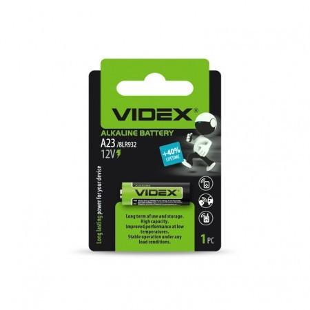 Батарейка лужна Videx А23/Е23А 1шт BLISTER CARD