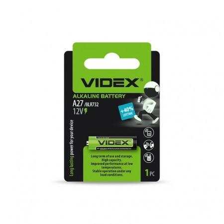 Батарейка лужна Videx А27 1шт BLISTER CARD
