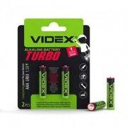 Батарейка лужна Videx LR03/AAA Turbo 2шт BLISTER