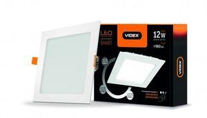 LED светильник с регулировкой яркости Встраиваемый Квадрат VIDEX 12W 5000K 220V D3