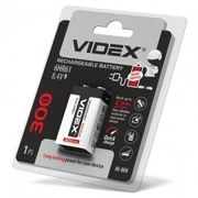 Аккумуляторы Videx 6HR61 300mAh blister/1pc 12/96