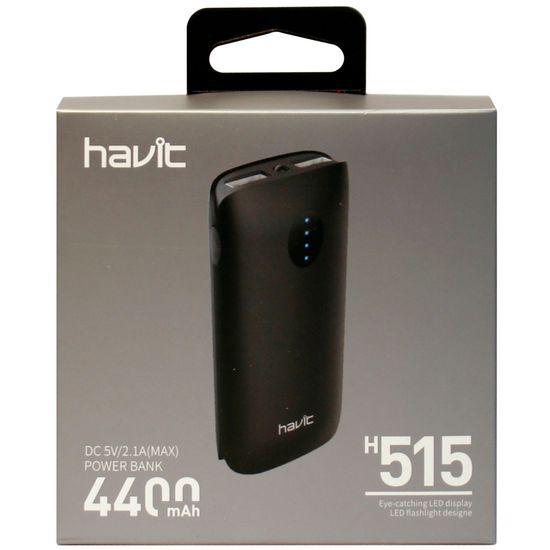 4400 mAh power bank HAVIT HV-H515, black (40 шт/ящ)
