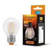 LED лампа VIDEX Filament G45FMD 4W E27 4100K дімерна