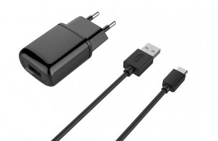 USB зарядка HAVIT HV-ST809 with Micro USB cable 1USB 2A black (100шт/ящ)