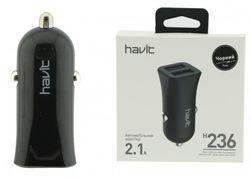 Автомобильная зарядка HAVIT HV-H236, dual usb (5V/2.1A)(40 шт/ящ)