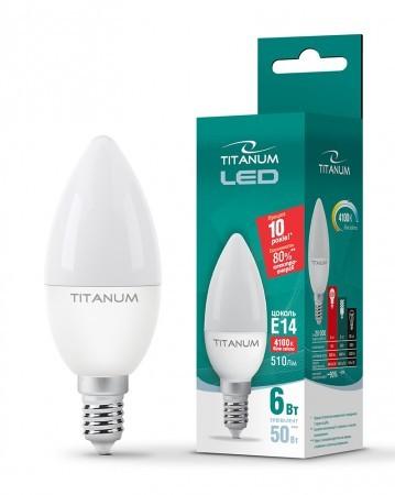 LED лампа TITANUM C37 6W E14 4100K