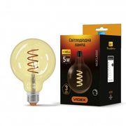 LED лампа VIDEX Filament G125FASD 5W E27 2200K дімерна бронза