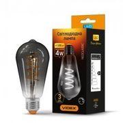 LED лампа VIDEX Filament ST64FGD 4W E27 2100K дімерна графіт